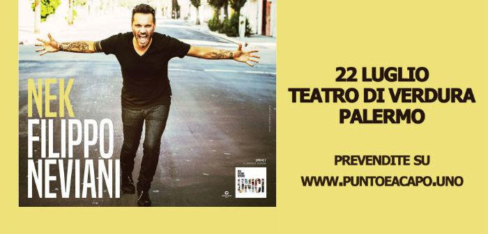 Nek al Teatro di Verdura di Palermo