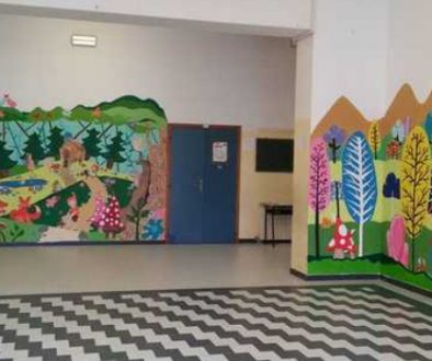 Dipingere-linfanzia-scuola-via-Anco-Marzio